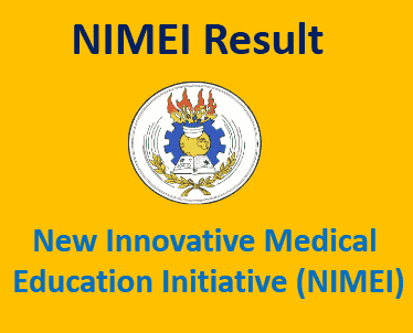 NIMEI Medical Entrance Exam Result 2019
